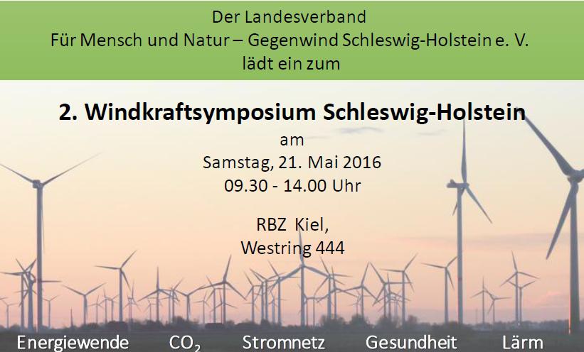 2. Windkraftsymposium Schleswig-Holstein