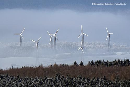 Windkraftanlagen sorgen für schlechtes Klima beim deutschen Wetterdienst.